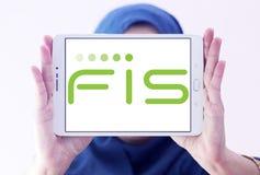 Logotipo de la compañía de FIS fotografía de archivo