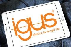 Logotipo de la compañía de Igus fotografía de archivo libre de regalías