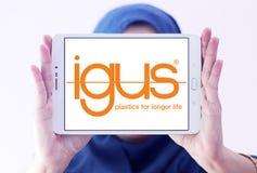 Logotipo de la compañía de Igus imagenes de archivo