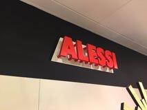 Logotipo de la compañía italiana Alessi Imagen de archivo