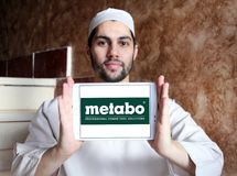 Logotipo de la compañía de las herramientas eléctricas de Metabo Imagenes de archivo