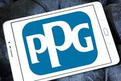 Logotipo de la compañía de las industrias de PPG Fotos de archivo libres de regalías