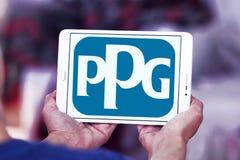Logotipo de la compañía de las industrias de PPG Imagen de archivo libre de regalías