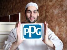Logotipo de la compañía de las industrias de PPG Foto de archivo libre de regalías