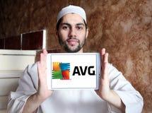 Logotipo de la compañía de las tecnologías de AVG Foto de archivo