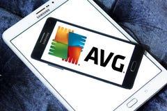 Logotipo de la compañía de las tecnologías de AVG Imagen de archivo