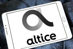 Logotipo de la compañía de las telecomunicaciones de Altice imagen de archivo libre de regalías