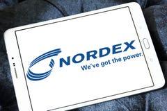 Logotipo de la compañía de las turbinas de viento de Nordex fotos de archivo libres de regalías