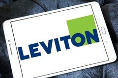 Logotipo de la compañía de Leviton imagen de archivo