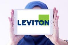 Logotipo de la compañía de Leviton imágenes de archivo libres de regalías