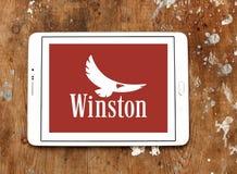 Logotipo de la compañía de los cigarrillos de Winston imagen de archivo