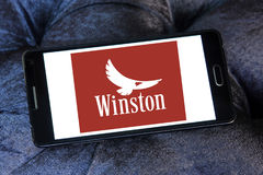 Logotipo de la compañía de los cigarrillos de Winston fotos de archivo libres de regalías