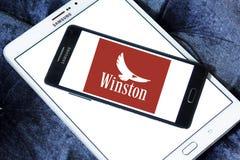 Logotipo de la compañía de los cigarrillos de Winston imagen de archivo libre de regalías