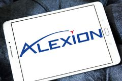 Logotipo de la compañía de los productos farmacéuticos de Alexion foto de archivo libre de regalías