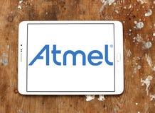 Logotipo de la compañía de los semiconductores de Atmel fotos de archivo