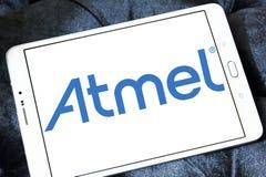 Logotipo de la compañía de los semiconductores de Atmel fotografía de archivo libre de regalías