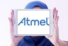 Logotipo de la compañía de los semiconductores de Atmel fotografía de archivo