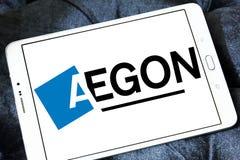 Logotipo de la compañía de los servicios financieros de Aegon Fotografía de archivo libre de regalías
