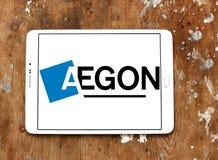 Logotipo de la compañía de los servicios financieros de Aegon Fotos de archivo libres de regalías