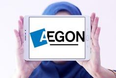 Logotipo de la compañía de los servicios financieros de Aegon Fotografía de archivo
