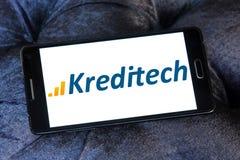 Logotipo de la compañía de los servicios financieros de Kreditech imágenes de archivo libres de regalías
