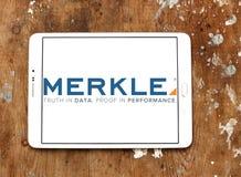 Logotipo de la compañía de Merkle imagen de archivo