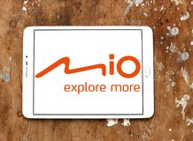 Logotipo de la compañía de Mio Technology Fotos de archivo libres de regalías