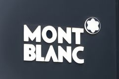 Logotipo de la compañía de Montblanc imagen de archivo libre de regalías
