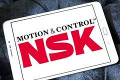 Logotipo de la compañía de NSK fotos de archivo