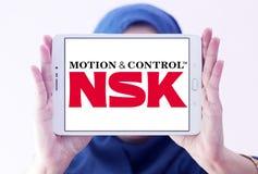 Logotipo de la compañía de NSK imagenes de archivo
