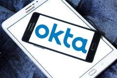 Logotipo de la compañía de Okta fotografía de archivo libre de regalías