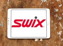 Logotipo de la compañía de la ropa de deportes de Swix Foto de archivo