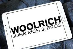 Logotipo de la compañía de la ropa de Woolrich imágenes de archivo libres de regalías