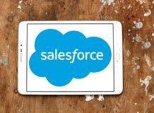 Logotipo de la compañía de Salesforce Imagen de archivo libre de regalías