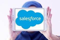 Logotipo de la compañía de Salesforce Foto de archivo libre de regalías