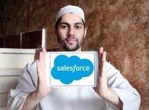 Logotipo de la compañía de Salesforce Fotografía de archivo
