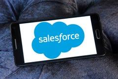 Logotipo de la compañía de Salesforce Fotos de archivo libres de regalías
