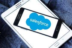 Logotipo de la compañía de Salesforce Imágenes de archivo libres de regalías