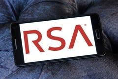 Logotipo de la compañía de seguridad del RSA fotos de archivo libres de regalías