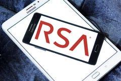 Logotipo de la compañía de seguridad del RSA imagen de archivo libre de regalías
