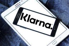 Logotipo de la compañía de servicios del pago de Klarna Fotos de archivo libres de regalías