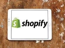 Logotipo de la compañía de Shopify Fotos de archivo libres de regalías