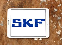 Logotipo de la compañía de SKF fotos de archivo