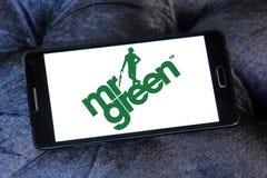 Logotipo de la compañía de Sr. Green Foto de archivo libre de regalías