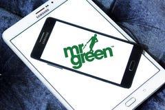 Logotipo de la compañía de Sr. Green Foto de archivo