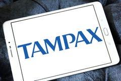 Logotipo de la compañía de Tampax Foto de archivo libre de regalías