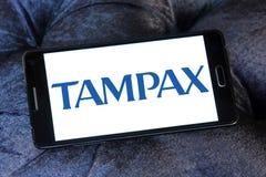 Logotipo de la compañía de Tampax Fotografía de archivo libre de regalías