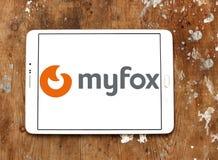Logotipo de la compañía de la tecnología de Myfox imagen de archivo