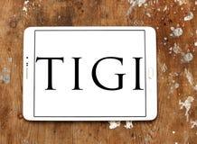 Logotipo de la compañía de TIGI imagen de archivo
