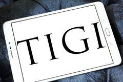 Logotipo de la compañía de TIGI fotos de archivo